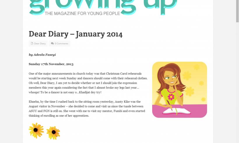 Dear Diary, I also have a Diary – 'Sola Fagorusi