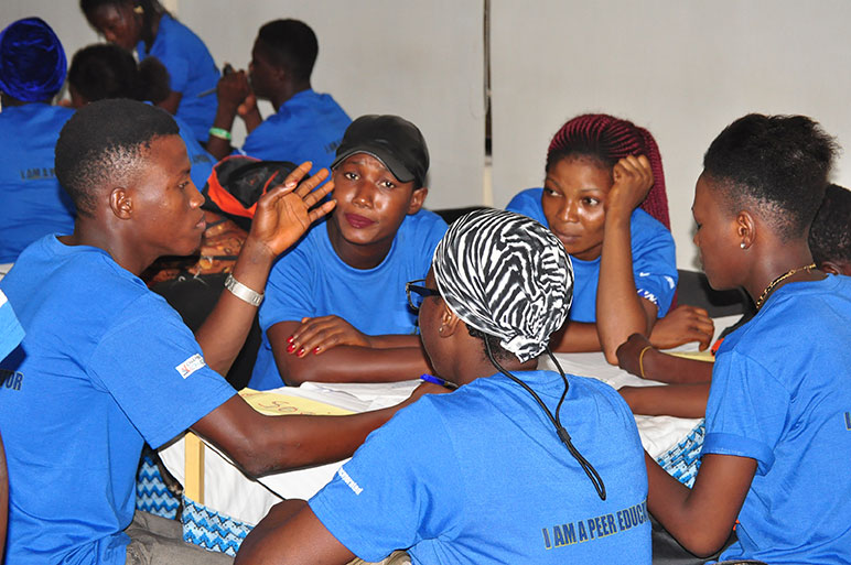 120 Young People Empowered AS Peer Educators